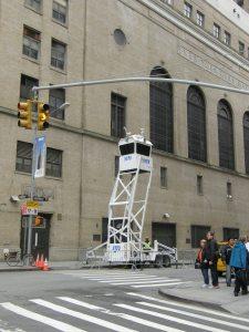 מגדל משטרתי נייד, ניו יורק, צילום: יוסי מטלון